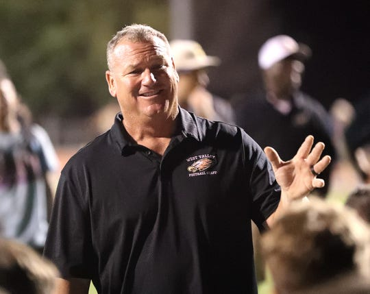 West Valley coach Greg Grandell won his 187th game on Friday, Sept. 6, 2019,  to become the third all-time winningest coach in CIF Northern Section history. No. 1 is Anderson's Bob Reid with 219 wins and No. 2 is East Nicolaus' Geoff Wahl with 198 victories.
