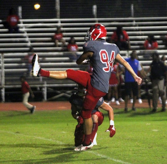 Haughton's Carter Jensen added a touchdown pass to his resume Friday.
