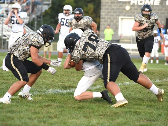 Buffalo Gap's defense didn't give Parry McCluer much to work with Friday, blanking the Blues 48-0.