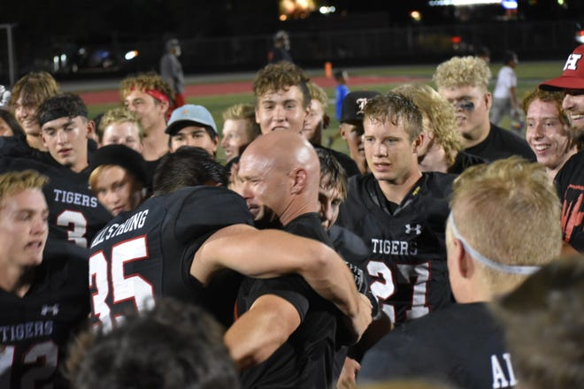 Hurricane gets its first win in nearly two years, defeating Crimson Cliffs 24-14.