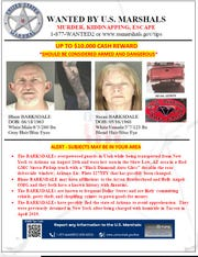 Blane and Susan Barksdale, wanted for homicide, escaped police custody in Utah and may be near El Paso.