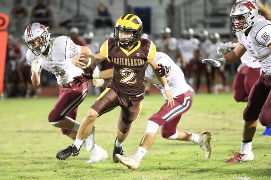 Golden West hosts Nipomo in a non-league High School Football game at Visalia Community Stadium on Friday, Sept 6, 2019.