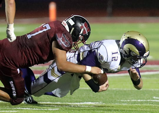 Nyack defeated Clarkstown North 20-0 during Friday night football game at Nyack High School Sept. 6, 2019.