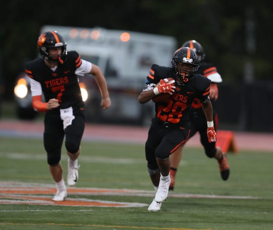White Plains defeats Yonkers Force 34-7 in varsity football action at White Plains High School on Friday, September 6, 2019.