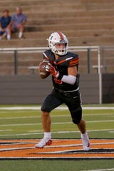 Burkburnett quarterback Mason Duke hopes to lead his team to a second-straight win over Iowa Park
