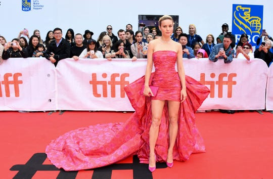 """US actress Brie Larson arrives for the premiere of """"Just Mercy"""" at the Roy Thomson Hall during the 2019 Toronto International Film Festival Day 2, on Sept. 6, 2019, in Toronto, Ontario."""