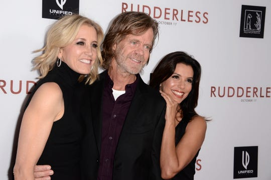"Felicity Huffman and her lawyers pleaded Friday, Sept. 6, 2019 for probation, community service and a fine instead of jail time for her role in the college admissions scandal, buoyed by letters of support from her ""Desperate Housewives"" co-star Eva Longoria."