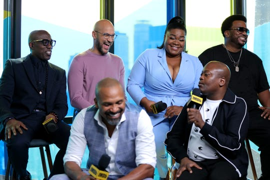 Actors Wesley Snipes, Keegan-Michael Key, Mike Epps, Da'vine Joy Randolph, Tituss Burgess and Craig Robinson of 'Dolemite is my name' attend The IMDb Studio Presented By Intuit: QuickBooks Canada at Toronto 2019 at Bisha Hotel & Residences on Sept. 7, 2019 in Toronto, Canada.