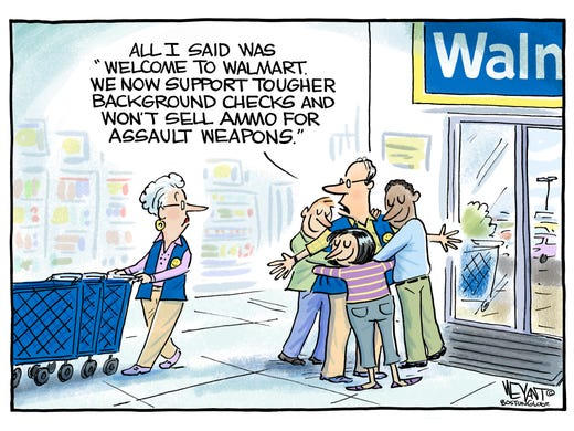 The new Walmart greeting: Today's Toon
