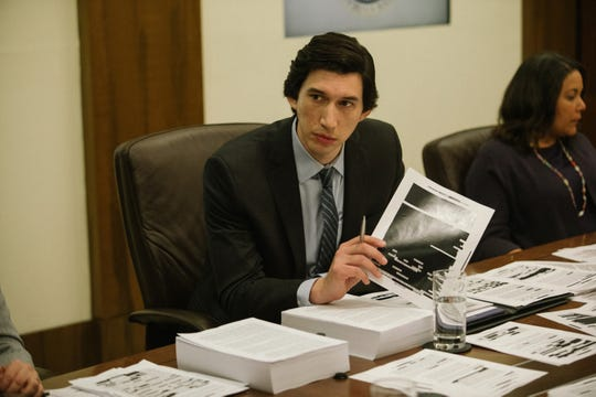 "Daniel Jones (Adam Driver) tirelessly works to expose moral issues in the CIA's torture practices in ""The Report."""