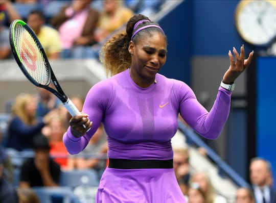 Image result for images of Serena Williams loses her fourth grand-slam final in a row as 19-year-old Bianca Andreescu defeats her