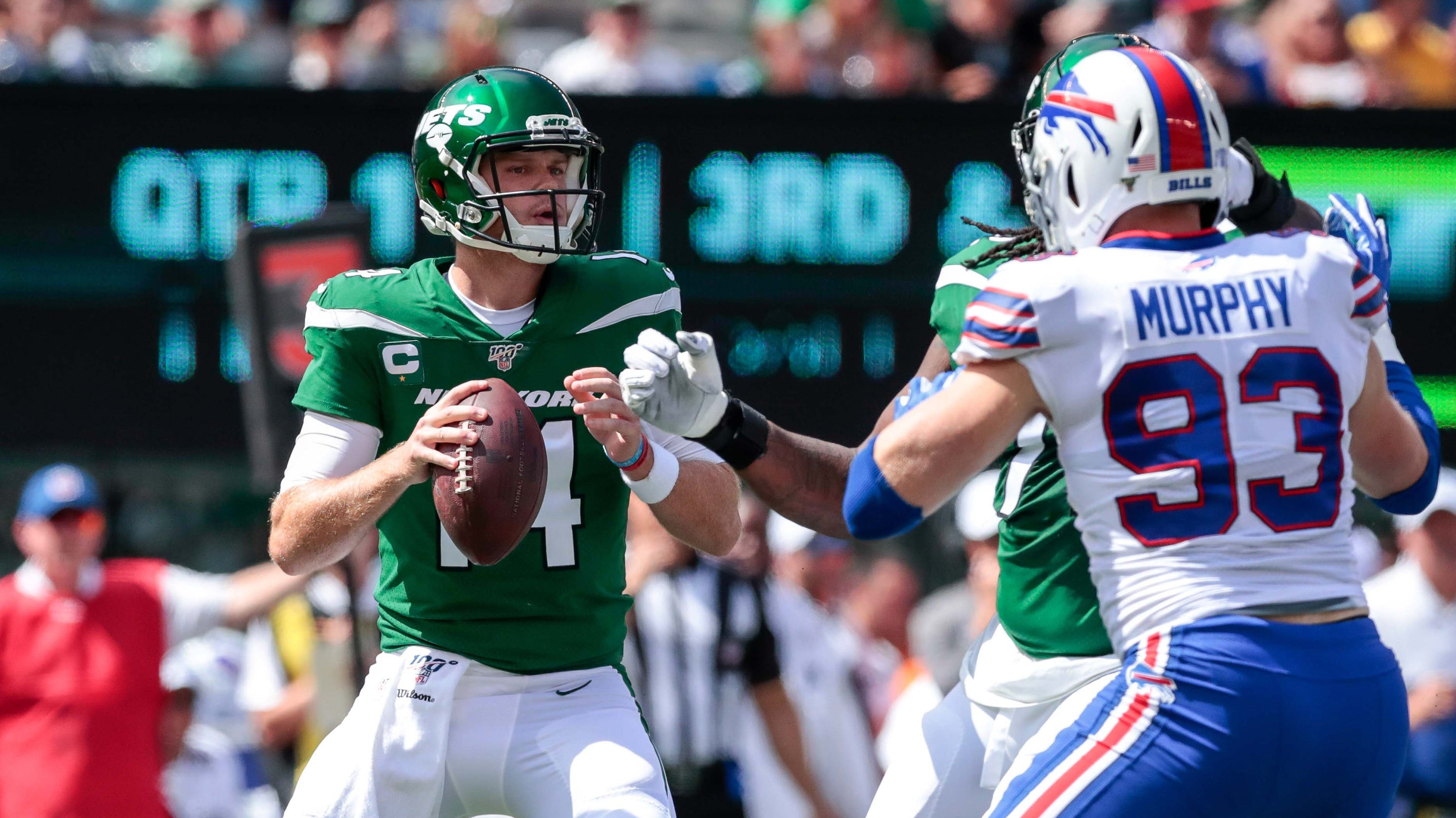 N Y Jets Qb Sam Darnold Falters In Season Opening Collapse
