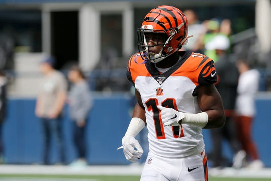 hot sale online 09cc8 400c4 John Ross: Bengals Twitter turns with touchdown catch after ...