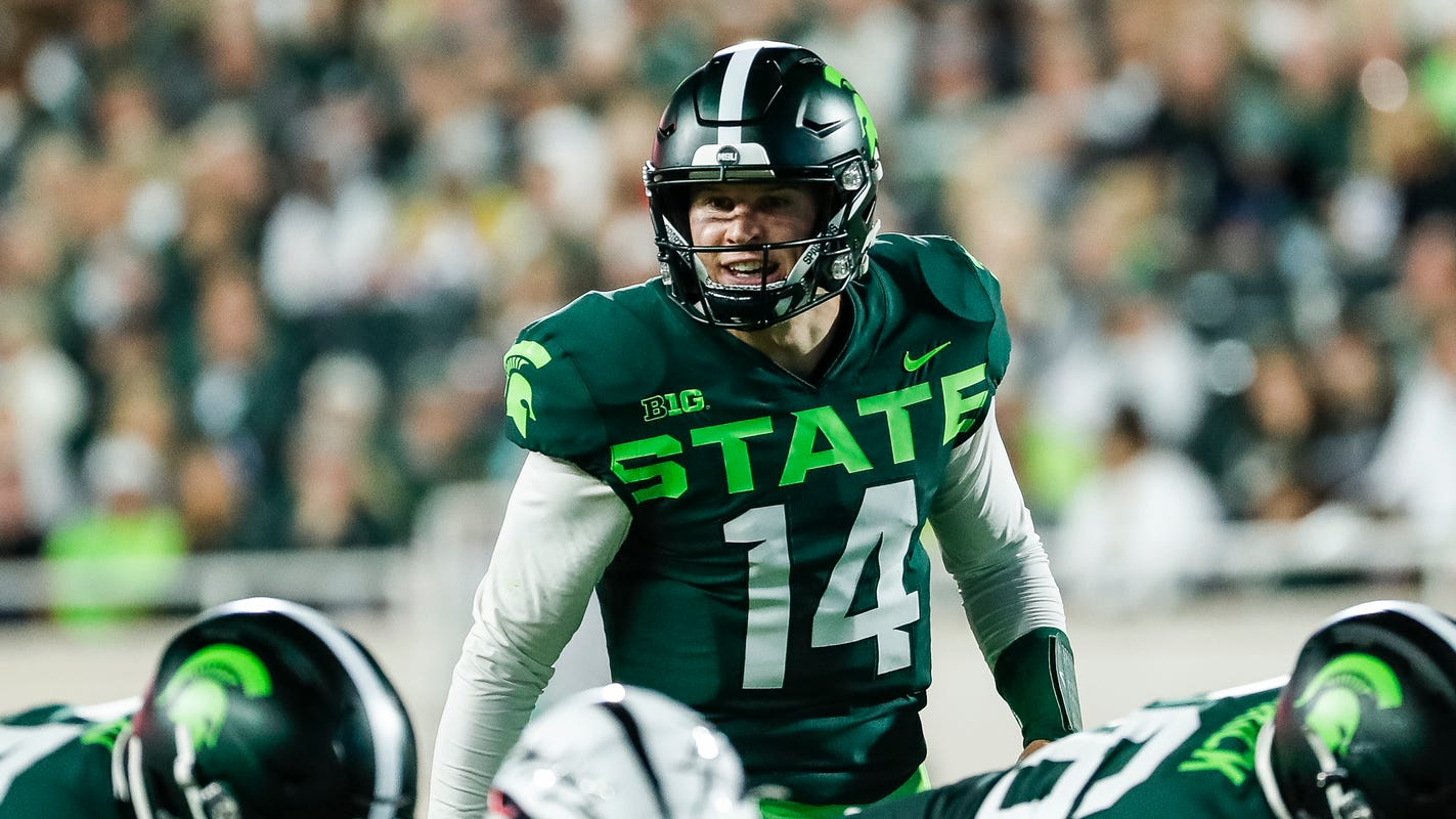 Phenomenal Michigan State Offense Gets Boost From Healthy Brian Lewerke Andrewgaddart Wooden Chair Designs For Living Room Andrewgaddartcom
