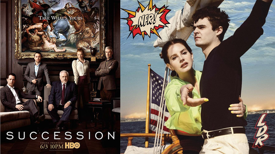 "Photo: Left to Right: ""Succession"", ""Norman F*cking Rockwell!"""