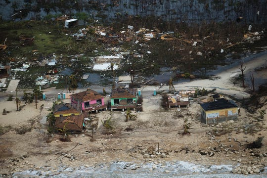 Extensive damage from Hurricane Dorian can be seen in aerial footage on the Island of Abaco on Wednesday, September, 4, 2019 in the  Bahamas. The Category 5 storm slammed the island chain.