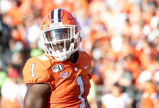 Clemson sophomore Derion Kendrick (1) plays in the second half of the game at Memorial Stadium Saturday, Sept. 7, 2019.