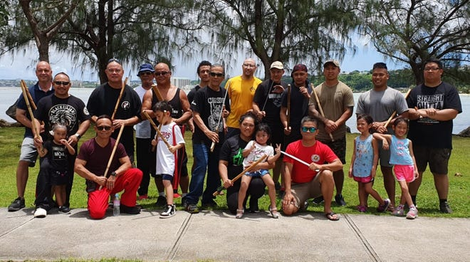 The Guam Filipino Martial Arts met for the first cultural gathering on Aug. 31 at Paseo Park. Attendees: Tabano Arnis, Petiki Tersia Tortal, Petiki Tersia Gaje, LSAI Lima, Visayan Arnis, Inosanto Arnis, Cebuano Arnis, Baha'Zubu, Jijitsu/Aikido.  For future gatherings, contact Bob Sales at 929-8885.