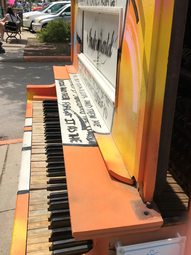Mass Ave piano in Indianapolis was vandalized over Labor Day