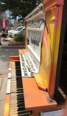 The Artful Piano entertained from its perch outside The District Theatre during IndyFringe in August.