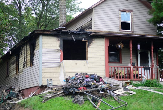 A home in the 300 block of Orange Street was severely damaged in a fire on Sunday morning.