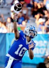 MTSU quarterback Asher O'Hara (10) passes the ball during the game against TSU at MTSU on Saturday Sept. 7, 2019.