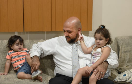 Mohamed Khairullah, mayor of Prospect Park, was traveling home from Turkey last month with his wife and kids when he said he was held and questioned for three hours bout his work and his travel. Khairullah his kids, Abdullah and Ahid.