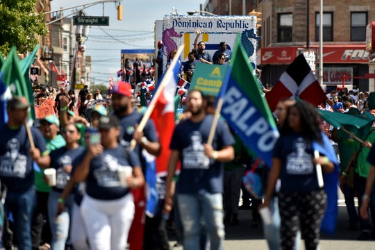 The Dominican Parade comes down Park Ave. in Paterson on September 8, 2019.