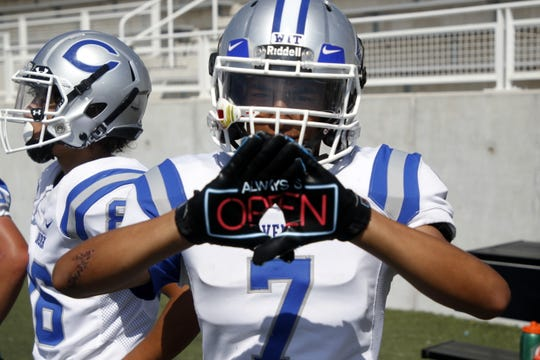 "Carlsbad wide receiver Joseph Hernandez reminds his quarterback like a 24-hour diner, he's ""Always Open"""