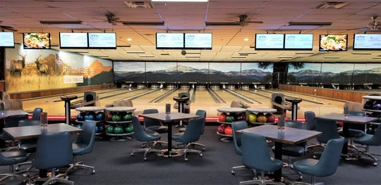 The alleys at Ruidoso Bowling Center all have a view via photographs of Sierra Blanca that will change and show snow in the winter.