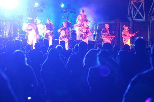 "The eight-piece funk rock band Here Come The Mummies headlined Friday night's ""Rock the Light"" in Port Clinton. On Saturday, the headline act was Jefferson Starship."