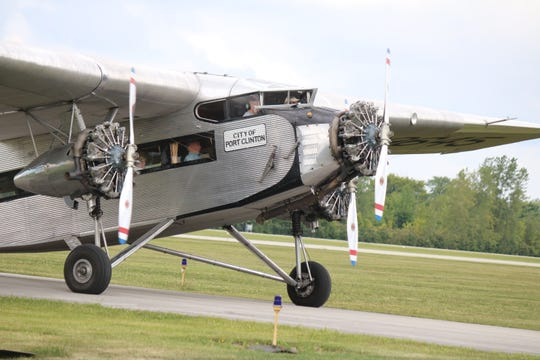 "A return to the ""Golden Age of Aviation"" unfolded at the Liberty Aviation Museum this past weekend as both the ""Tin Goose"" and All-Ohio Ninety-Nines flew into town."