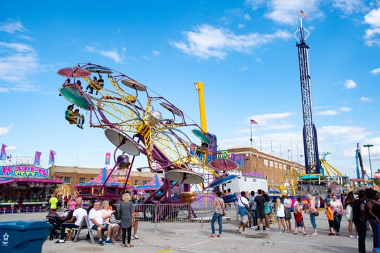The lines aren't too long at the York Fair this Saturday, September 7, 2019.