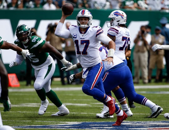 Josh Allen attempted 37 passes against the Jets and he may be in pass mode again when the Bills meet the Giants Sunday.