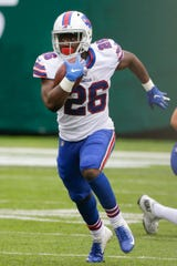 Buffalo Bills running back Devin Singletary rushes during the second half of last Sunday's game against the Jets. Singletary rushed for 70 yards - all in the second half.