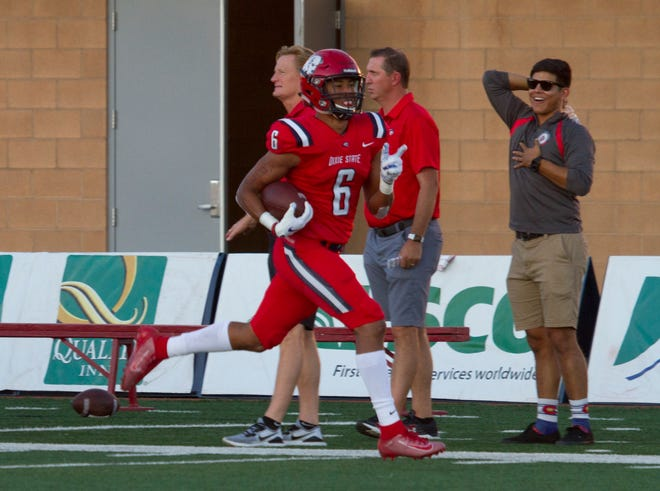 Darrius Nash recorded one of four Dixie State interceptions on Saturday.