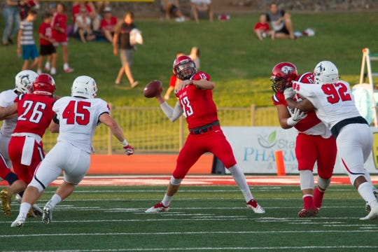 Colorado State University Pueblo football defeats Dixie State 36-7 Saturday, Sept. 7, 2019.