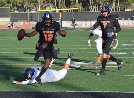 Ventura College's Terrell Vaughn is second in Southern California with four TD catches in two games this season.