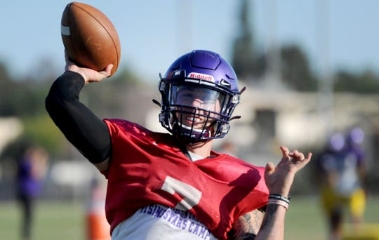 Senior Cesar De Leon, a transfer from Northwest Oklahoma State, threw six touchdown passes in Cal Lutheran's home opener on Saturday night.