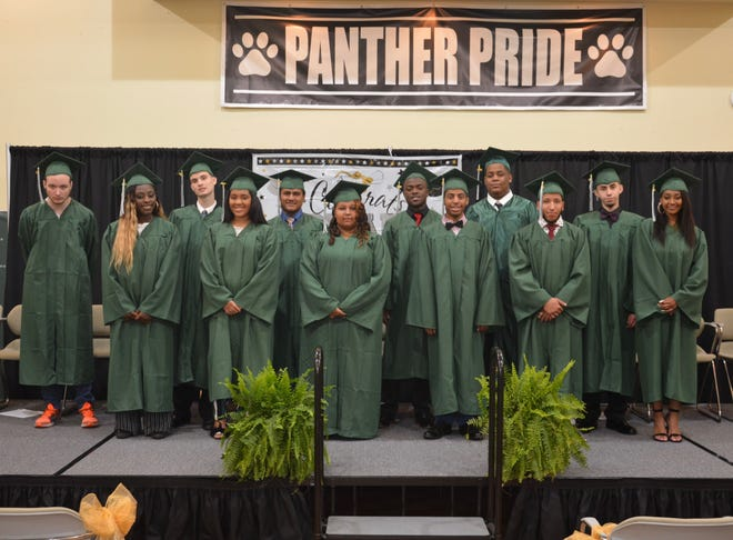 Pineland Learning Center's Class of 2019 are pictured at their graduation ceremony.