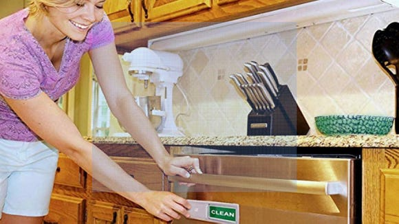Now you never have to wonder whether the dishes are clean or dirty again.