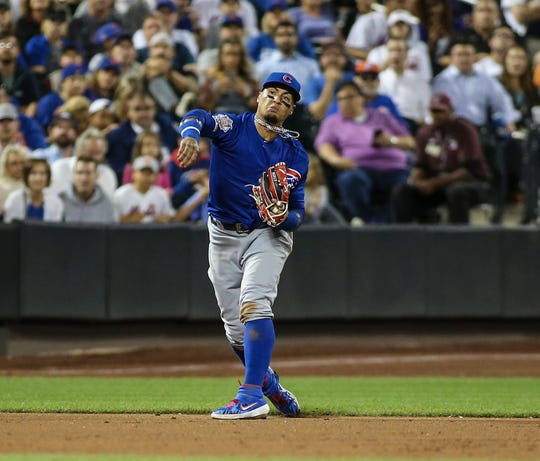Javier Baez has not played since a 4-0 loss to the Brewers on Sept. 1