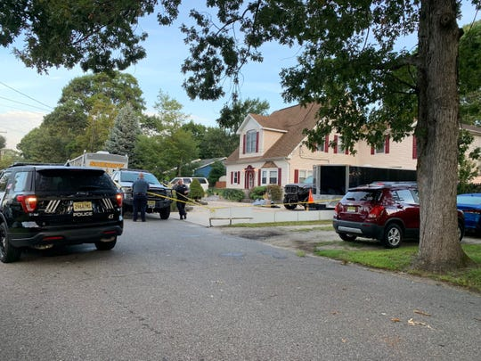 Police were still at the scene of a Brick homicide Monday morning.