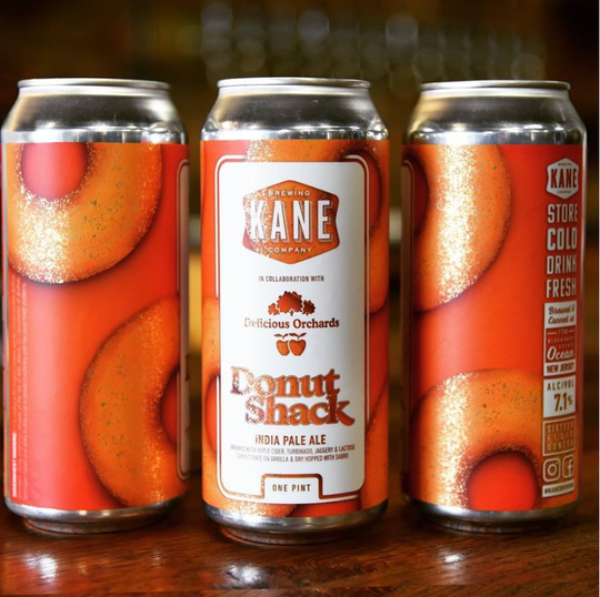 The 2018 can design for the Donut Shack IPA from Kane Brewing Company in Ocean Township.