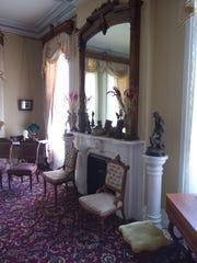 A home parlor, featured in the PAST Home Tour, highlighting historic homes of Owego.