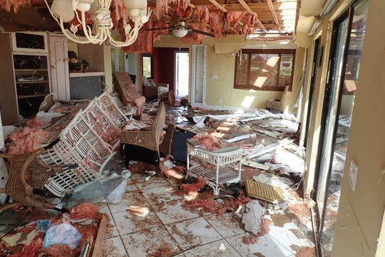 A Treasure Cay home owned by John Slack's friends was totaled during Hurricane Dorian.