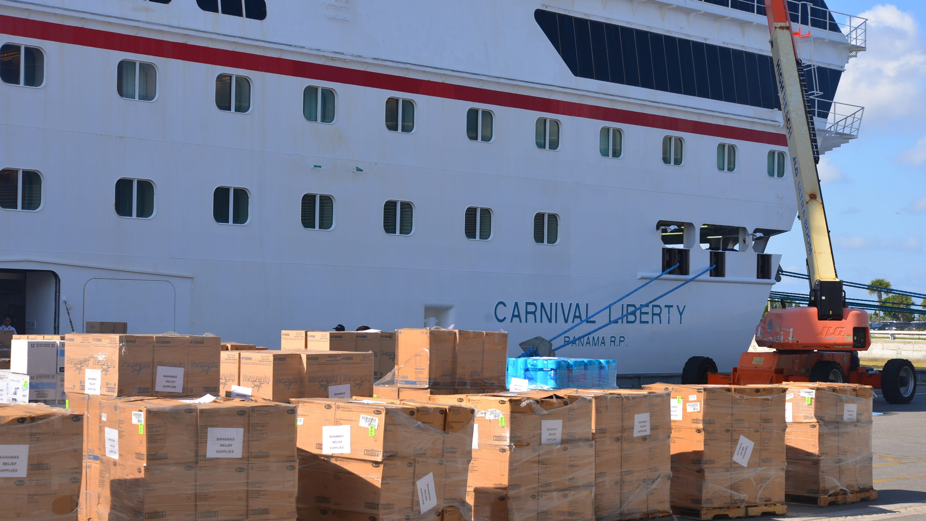 Bahamas Help Carnival Cruise Ship Loaded With Supplies For