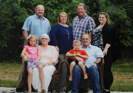 When Betty Richardson learned in August 2018 that she was terminally ill with lung cancer, her daughter Vikki Miller of Milford arranged for a family photograph. Betty is seated on the left with great-granddaughter Lillian. Betty's husband Don is seated right with great-grandson Shane. Standing from left are Donald, the couple's son; Vikki Miller, their daughter, her husband Tim, and their daughter Ashley.