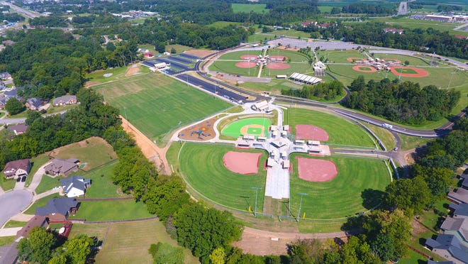 An aerial view of the Montgomery County Civitan Park expansion.