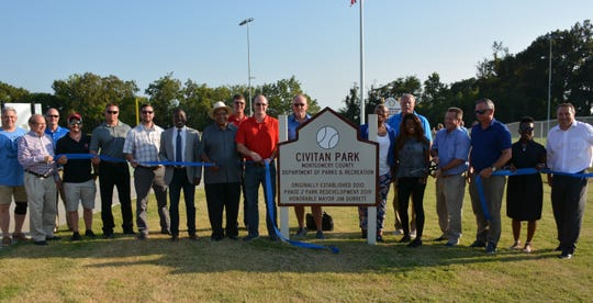 The ribbon cutting for the expansion of Civitan Park on Friday, Sept. 6, 2019.